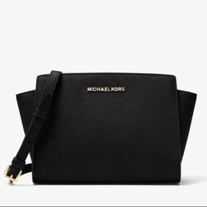 Michael Kors Selma Medium Leather Crossbody Bag